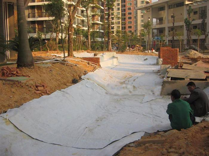 各种防水衬垫系统膨润土防水毯身经百战
