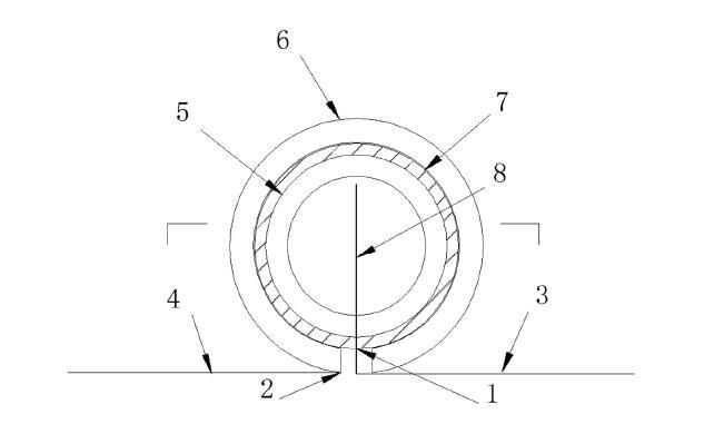 防渗膜卷膜套管连接装置及其连接方法