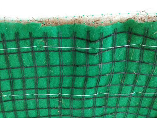植物纤维毯不同雨强下减流效益对比
