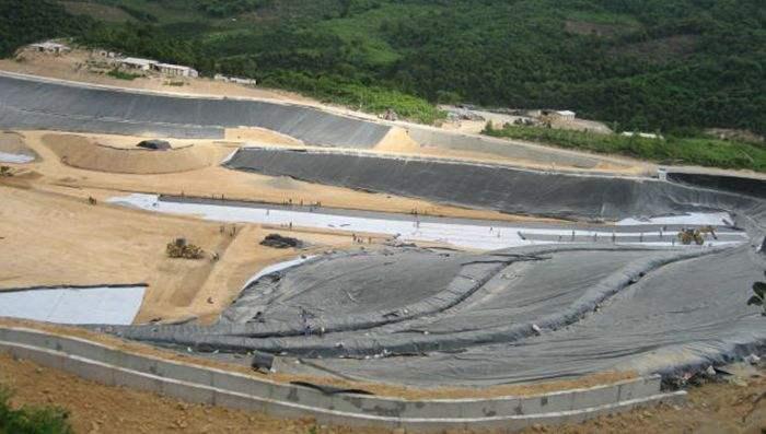 尾矿库工程中主要用于底部衬垫及堤坝坡面系统